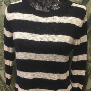 Old Navy Navy & White Striped Sweater, LG